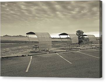 Bigfoot Pass Overlook Area At Badlands Canvas Print by Panoramic Images