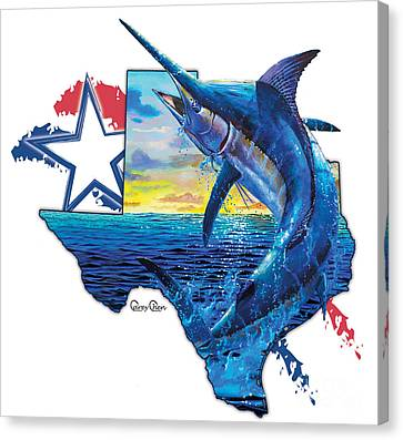 Swordfish Canvas Print - Bigger In Texas by Carey Chen