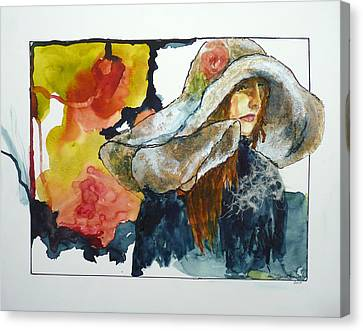 Arcylic Canvas Print - Bigger Then Her Painting by P Maure Bausch
