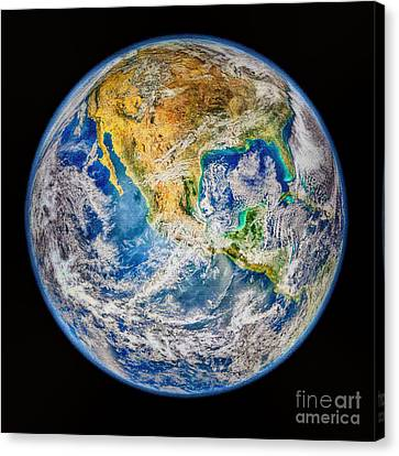Biggest Image Of Earth Ever N. A. S. A Canvas Print by Bob and Nadine Johnston