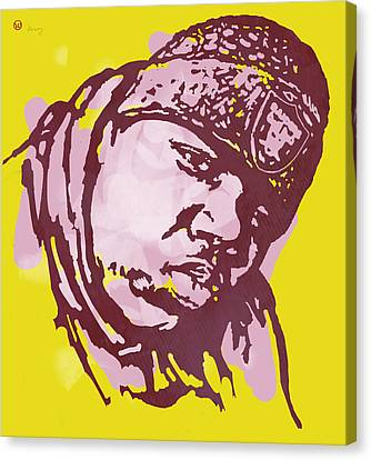 Biggie Smalls Modern Colour Etching Art  Poster Canvas Print