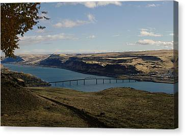Biggs Junction On The Columbia River Canvas Print by Jeff Swan