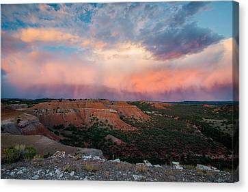 Bighorn Basin Sunset Canvas Print by Leland D Howard