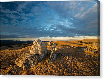 Bighorn Ridge Sunrise Canvas Print by Leland D Howard