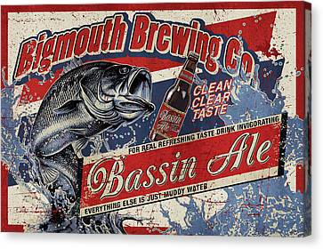 Bigmouth Brewing Canvas Print by JQ Licensing