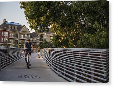 Bike In Houston  Canvas Print by John McGraw