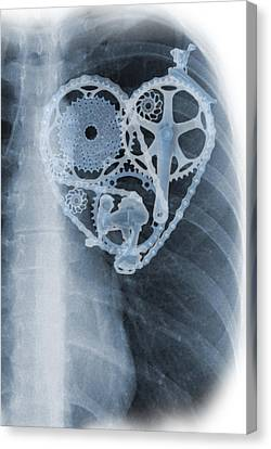 bike lover X-ray Canvas Print by Sassan Filsoof