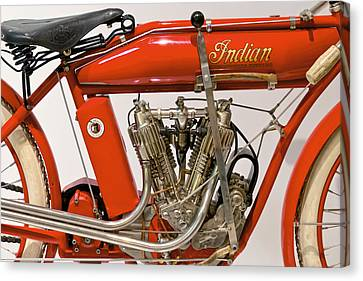 Suburbanscenes Canvas Print - Bike - Motorcycle - Indian Motorcycle Engine by Mike Savad