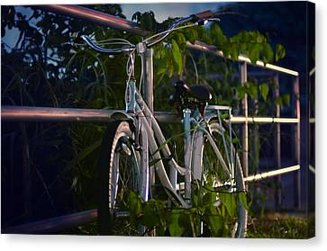 Bike Noir Canvas Print by Laura Fasulo