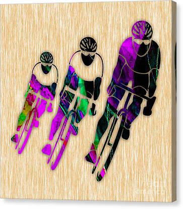 Bicycle Race Canvas Print - Bike Painting by Marvin Blaine