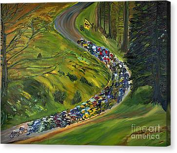 Bike Race Belgium Arden Spring Classics Canvas Print by Gregory Allen Page