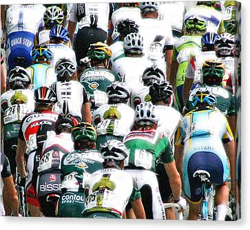 Canvas Print featuring the photograph Bike Race Image by Christopher McKenzie