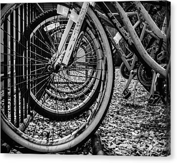 Bike Rack Canvas Print by Steve Stanger