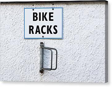 Bike Racks Canvas Print