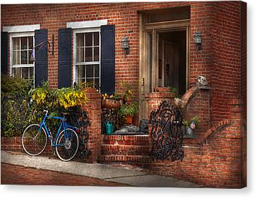 Bike - Waiting For A Ride Canvas Print by Mike Savad