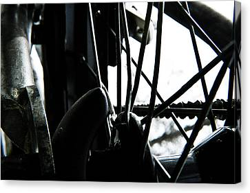 Canvas Print featuring the photograph Bike Wheel by Joel Loftus