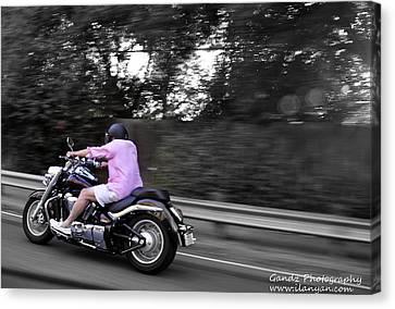 Biker Canvas Print by Gandz Photography