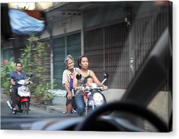 Bikes - Bangkok Thailand - 01131 Canvas Print by DC Photographer