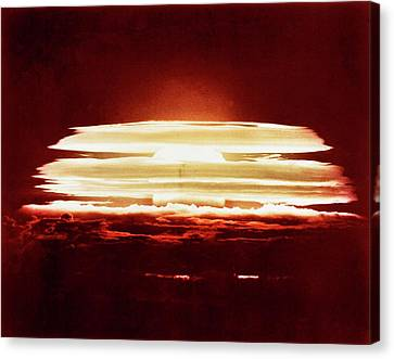 Bikini Atoll Nuclear Test Canvas Print by Us Department Of Energy