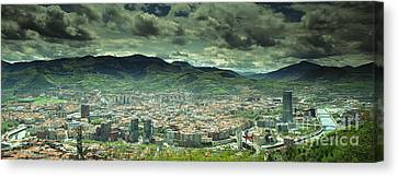 Canvas Print featuring the photograph Bilbao Panoramic  by Mariusz Czajkowski