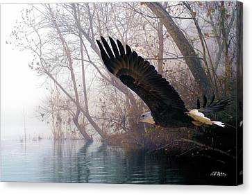 River Canvas Print - Bilbow's Eagle by Bill Stephens