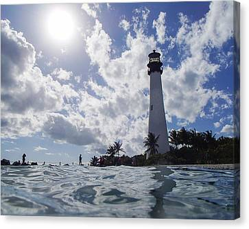Bill Baggs Lighthouse On Key Biscayne Canvas Print