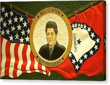 Bill Clinton 42nd American President Canvas Print by Art America Online Gallery