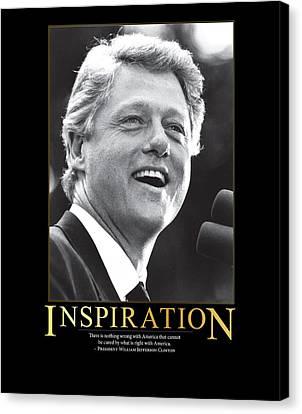 Bill Clinton Inspiration Canvas Print