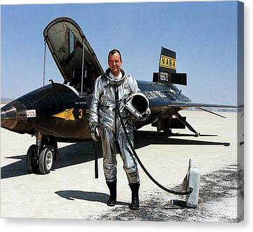 Bill Dana As X-15 Test Pilot Canvas Print by Nasa