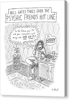 Bill Gates Takes Over The Psychic Friends Hotline Canvas Print