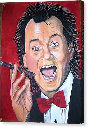 Bill Murray Canvas Print by Linda Vaughon