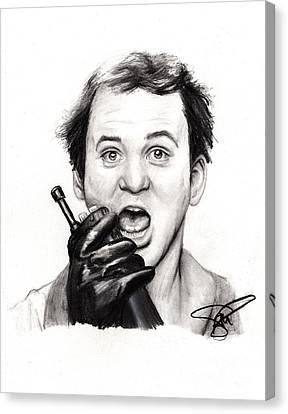 Bill Canvas Print - Bill Murray by Rosalinda Markle