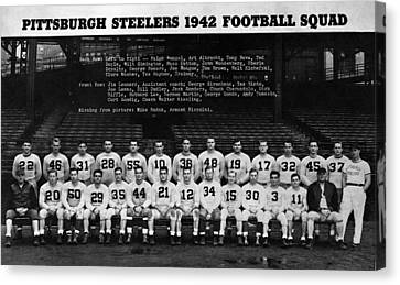 Pittsburgh Steelers Canvas Print by Retro Images Archive