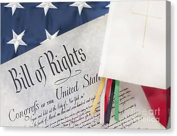 Bill Of Rights By Bible  Canvas Print by Cheryl Casey