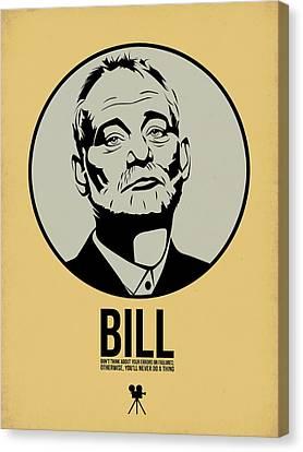 Bill Canvas Print - Bill Poster 1 by Naxart Studio