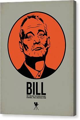 Bill Canvas Print - Bill Poster 3 by Naxart Studio