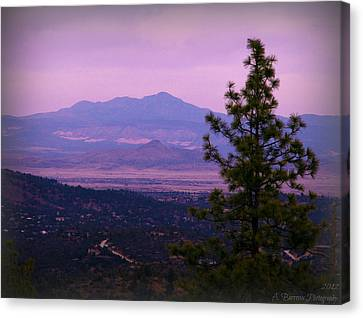 Bill Williams Over The Valley Canvas Print by Aaron Burrows