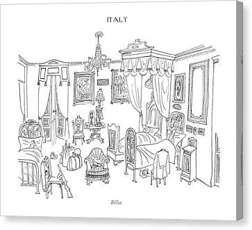Billet Canvas Print by Saul Steinberg