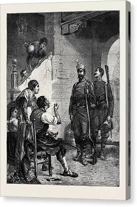 Billeted, Spain, 1874 Canvas Print