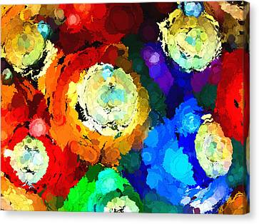 Billiard Balls Abstract Digital Art Canvas Print
