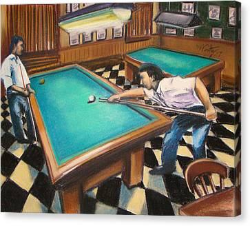 Billiard Hall Canvas Print