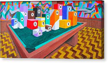 Billiard Table Canvas Print by Lorna Maza