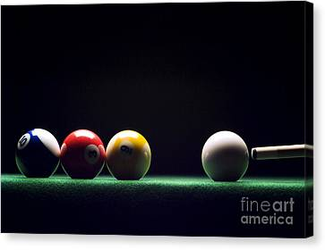Billiard Canvas Print by Tony Cordoza