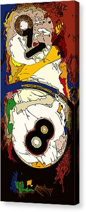 Billiards 8 And 9 Ball Abstract Canvas Print