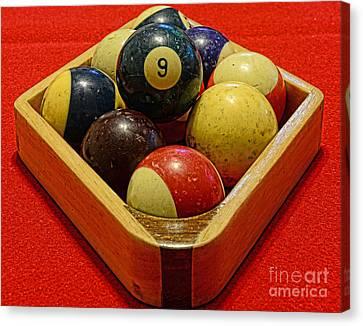 Billiards - 9 Ball - Pool Table - Nine Ball Canvas Print