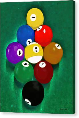 Billiards Art - Your Break 1 Canvas Print by Lesa Fine