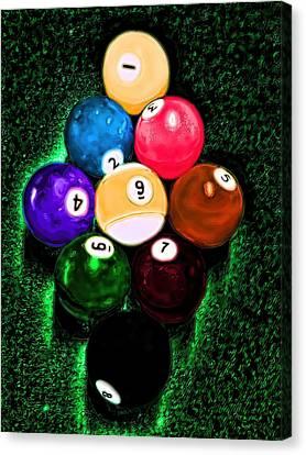 Billiards Art - Your Break Canvas Print by Lesa Fine