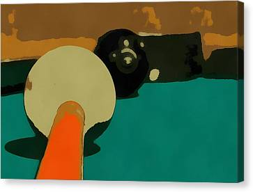 Billiards Pop Art Canvas Print by Dan Sproul