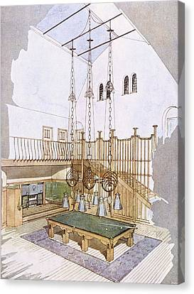 Billiards Room, Designed By George Canvas Print by .