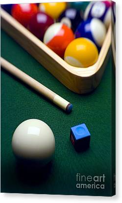 Billiards Canvas Print by Tony Cordoza
